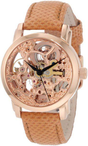 Akribos XXIV Women's AKR431RG Rose Gold Skeleton Automatic Watch:Amazon:Watches