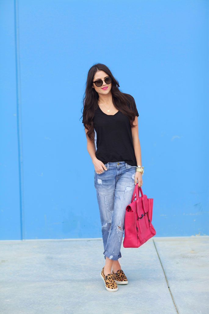 casual #spring outfit + #leopard via #pinkpeonies, @Rach Parcell / Pink Peonies