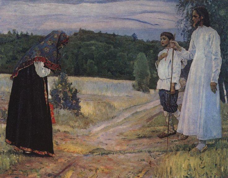 Михаил Васильевич Нестеров » Картины, живопись » Путник. 1921