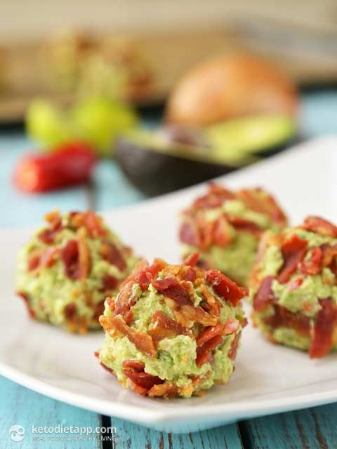 Bacon & Guacamole Fat Bombs - Serves 4 - Calories: 192 Fat: 18g Net Carbs: 2g Protein: 4g