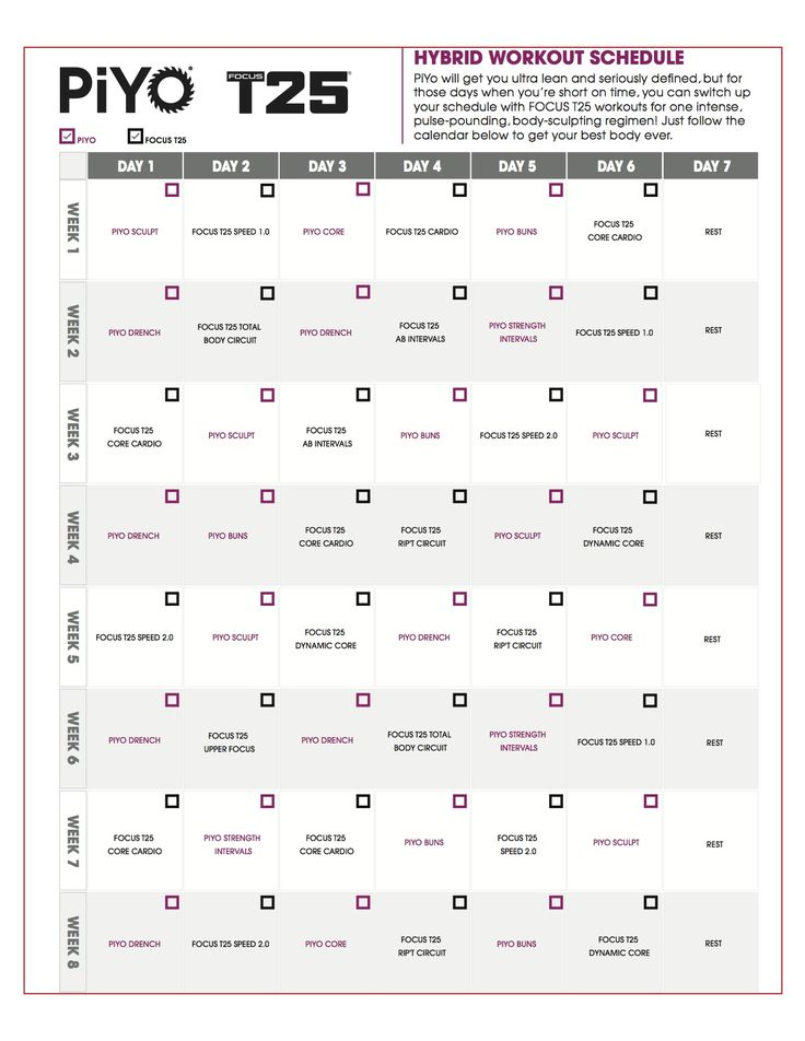 Focus T Review Shocking Results And Printable Workout Calendar