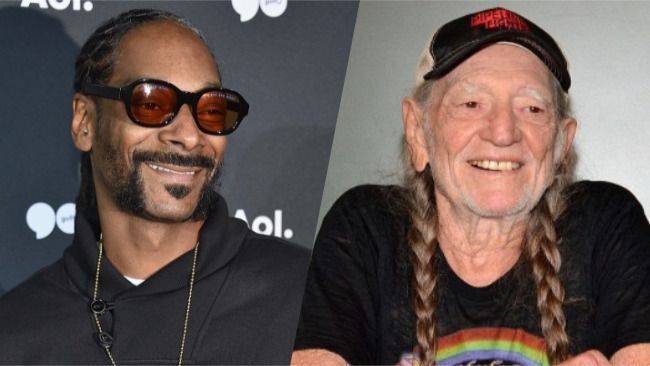 Snoop Dogg Gifted Willie Nelson With a Very Marijuana-Friendly Christmas Sweater  Rap star Snoop Dogg and country legend share one common bond aside from music: marijuana. Snoop was obviously in the holiday spirit because he gifted his bud buddy with an ugly Christmas sweater that celebrates their favorite green leaf. Nelson shared a photo of himself wearing the shirt which sports the words Smoke Weed and features a pot leaf decorated with Christmas lights.