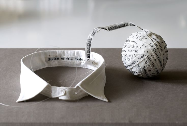 'Ball & Collar'  Shelly Goldsmith 2012. 11th December- investigating how Shelly Goldsmith uses text and lace combined in her garments.