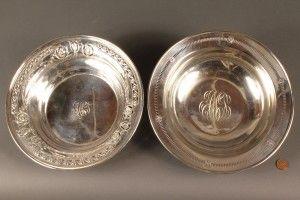 Antieke zilveren schalen