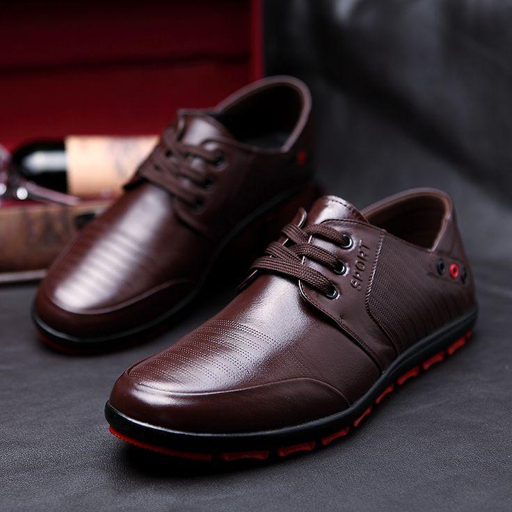 Большой Размер НОВЫЕ Дышащие Мужчин кожаные ботинки мужские ботинки кожа Квартиры Oxfords Обувь Низкой мужская Узелок Обувь Бесплатно доставка