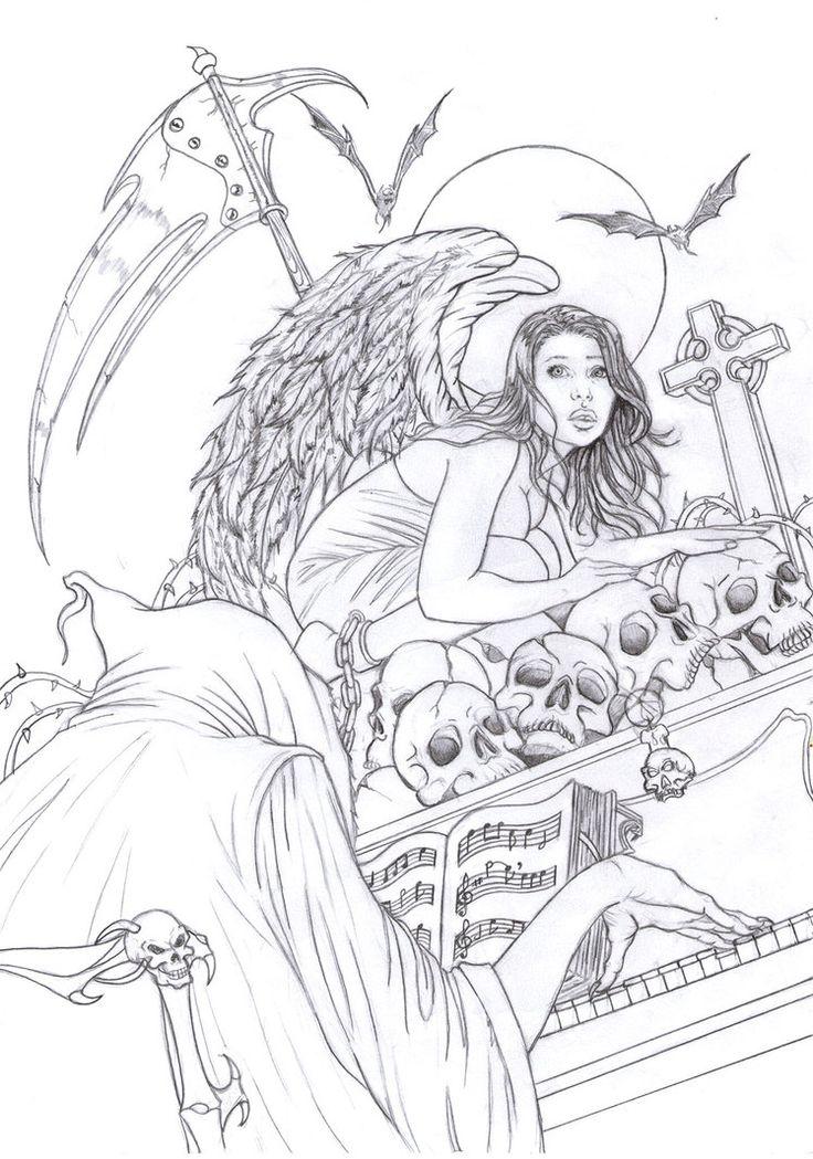 Death By Raffa3le Angel Fantasy Myth Mythical Legend Wings Warrior Valkyrie Anjos Goth Gothic