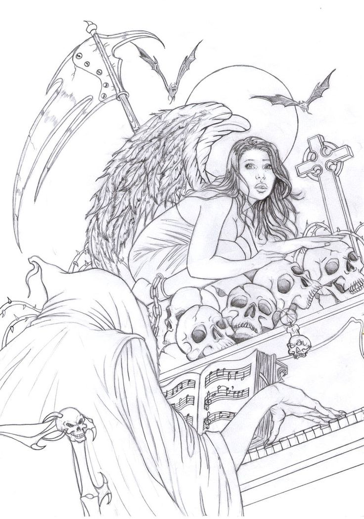 warrior angel coloring pages - photo#36