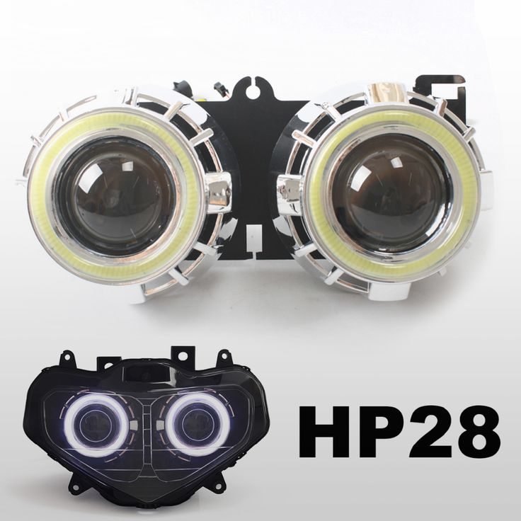 KT Motorcycle HID Projector Lens Headlight Suitable for Suzuki GSXR750 2001 2002 2003 LED Angel Halos