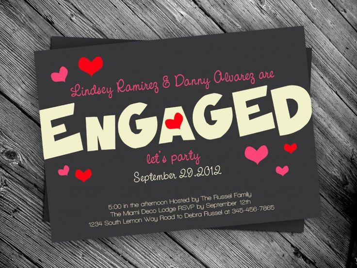 The 25 best Engagement invitation template ideas – Cheap Engagement Party Invites