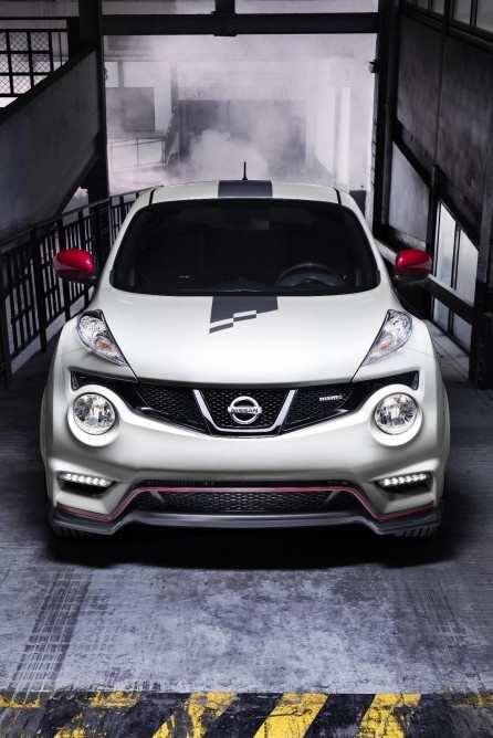 The white and red paint job gives the Juke a sportier, more playful appearance