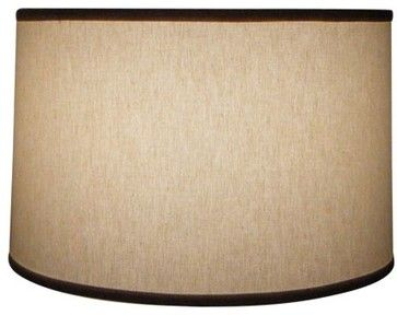 "Natural Linen 13"" Drum Table Lamp Shade - craftsman - Lamp Shades - Timeless Wrought Iron"