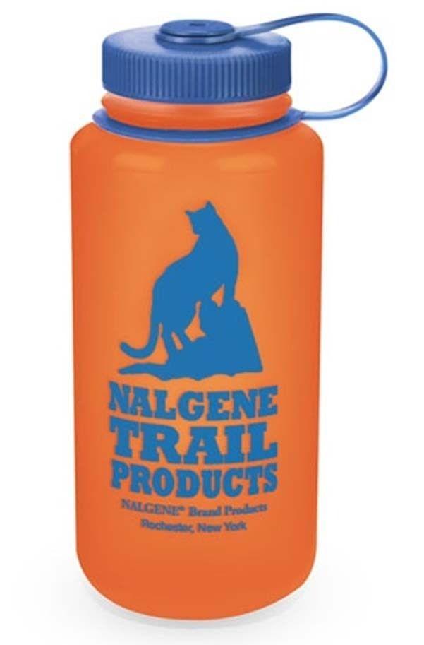 Nalgene Wide Mouth HDPE Bottle with Cat Logo 1000ml - Retro Orange
