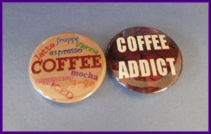 1.25 inch coffee badges from www.facebook.com/micmacmade