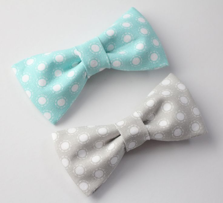 Baby to Toddler Bow Ties - Handmade Fabric Bowties - Adorable Polka dot Bow ties for Baby boys/Toddlers - Choose ONE Bow tie from 2 options by LittleJoyCreations on Etsy