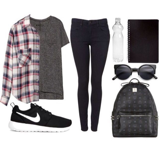 Laid Back Look With Theses Roshe Runs School Outfits