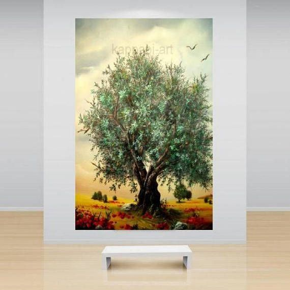 ΟliveTree landscape painting Ready to hang By Chris Art