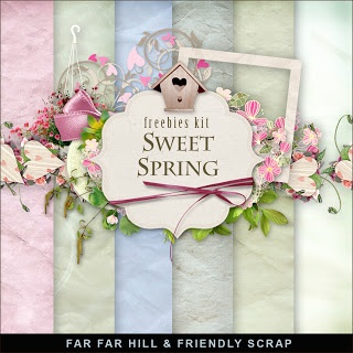 Sunday's Guest Freebies- Far Far Hill- Free Digital Scrapbook Supplies