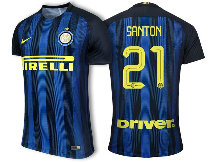 Internazionale Milano #21 Davide Santon 2016-17 Home Short Shirt