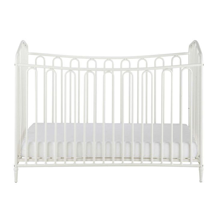 Lit bébé à barreaux en métal blanc cassé L 126 cm Juliette