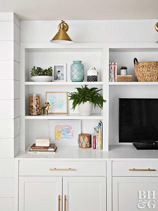 Design Wall Units For Living Room: BHG Makeover: DIY Custom Built-In Wall Unit