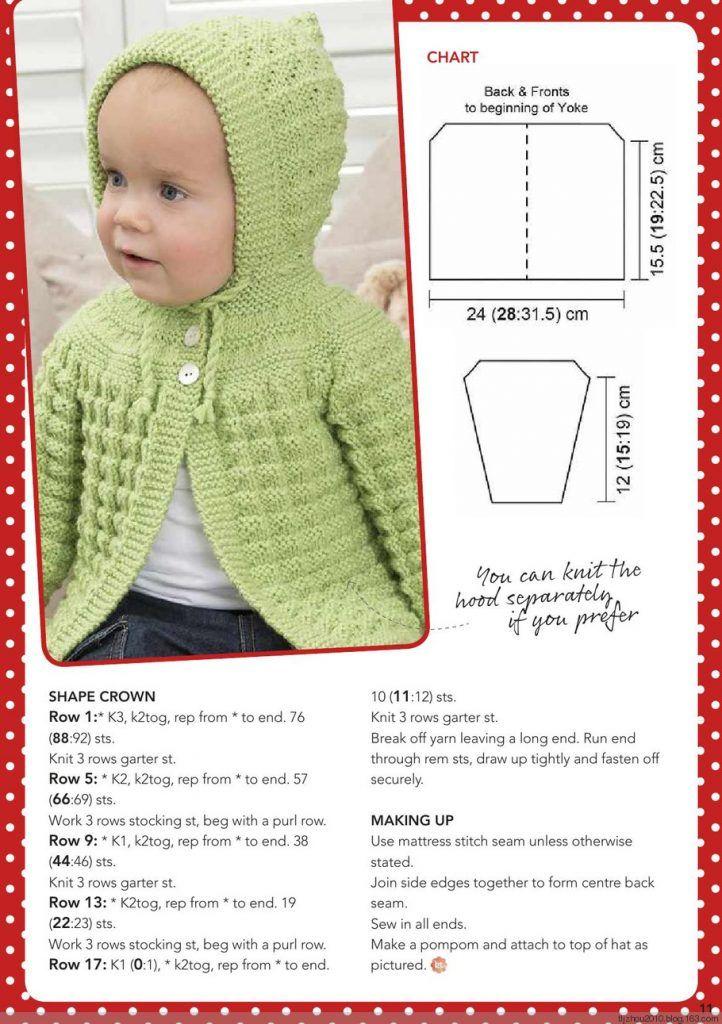 Classic Textured Baby Cardigan Pattern ~ Knitting Free | Knitting ...