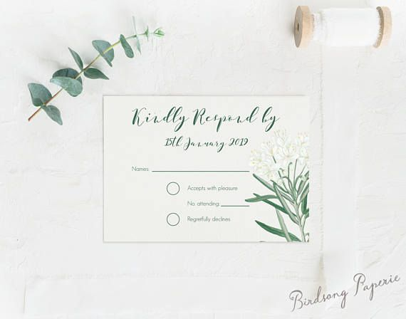 Hand painted South Wind response card avaiable as a printable design on Etsy Visit Birdsong Paperie's Shop #responsecard #wedding #stationery #rsvpcard #rsvp #weddinginspiration #bride #illlustration #papergoods