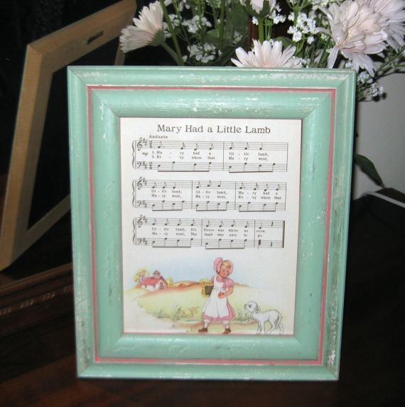 have several of the most popular nursery rhymes framed on food tables