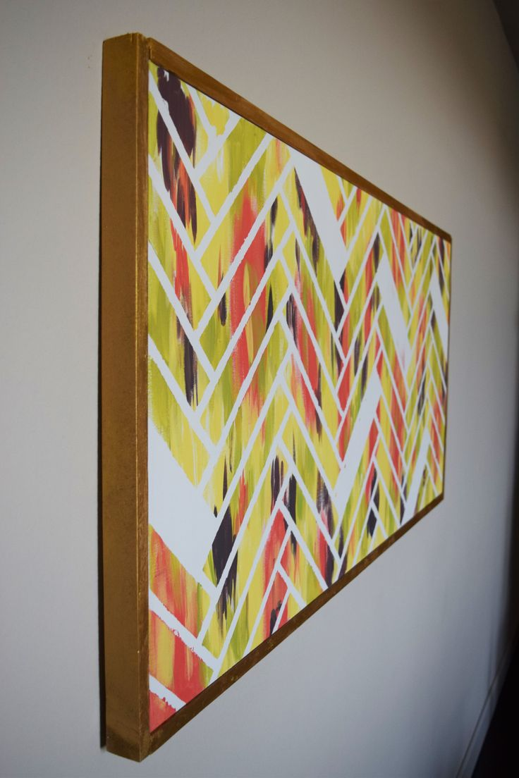 No WAY! This is such an easy (and cheap!) way to frame out a canvas ...