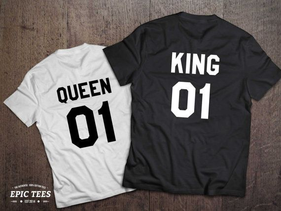 Hey, I found this really awesome Etsy listing at https://www.etsy.com/listing/224976011/king-and-queen-01-couples-t-shirt-set