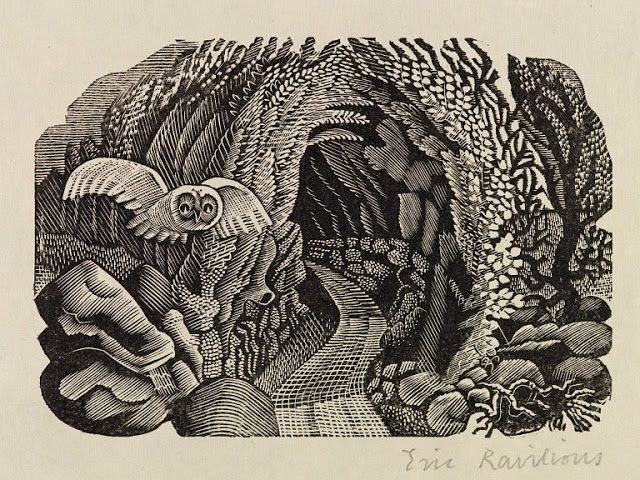 Eric Ravilious (English, 1903-1942). Illustration for a later edition of the Natural History of Selborne by Gilbert White. 1937. (wood engraving)