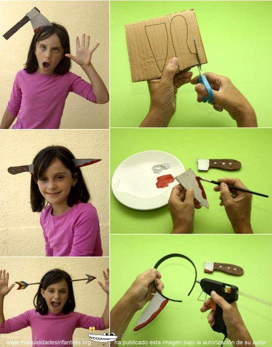 Disfraz cuchillo cabeza