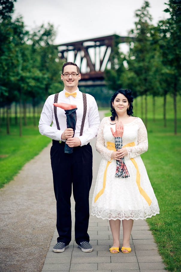 Horror Movie wedding theme. We wouldn't do this but it is a fun idea