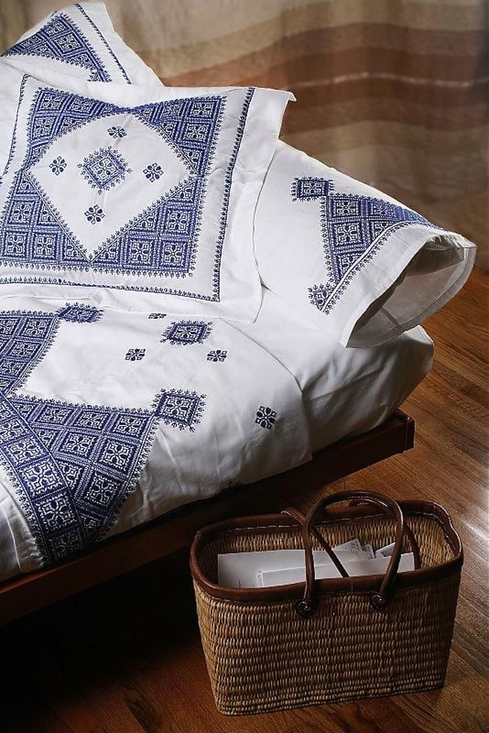 Embroidered Bed Linens from Morocco