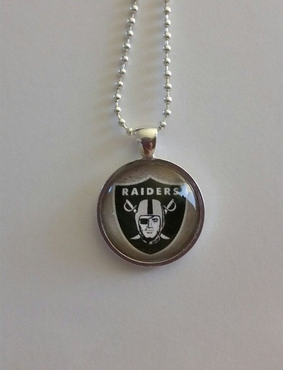 Oakland Football necklace 24 silver plated by BrumbleBerryBoutique