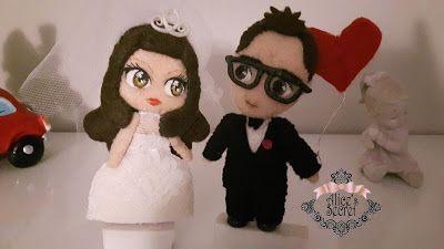 Alice's Secret: Sposini in feltro per san valentino