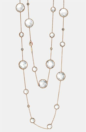 Ivanka Trump Long Diamond & Rock Crystal Chain Necklace available at Nordstrom