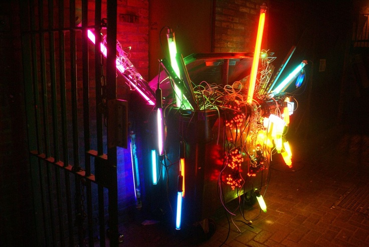 'Festival', 2006, neon by David Batchelor, Lumiere Durham 2011. On loan from Arts Council Collection, Southbank Centre, London. Gift of the artist and Hayward Gallery 2006.