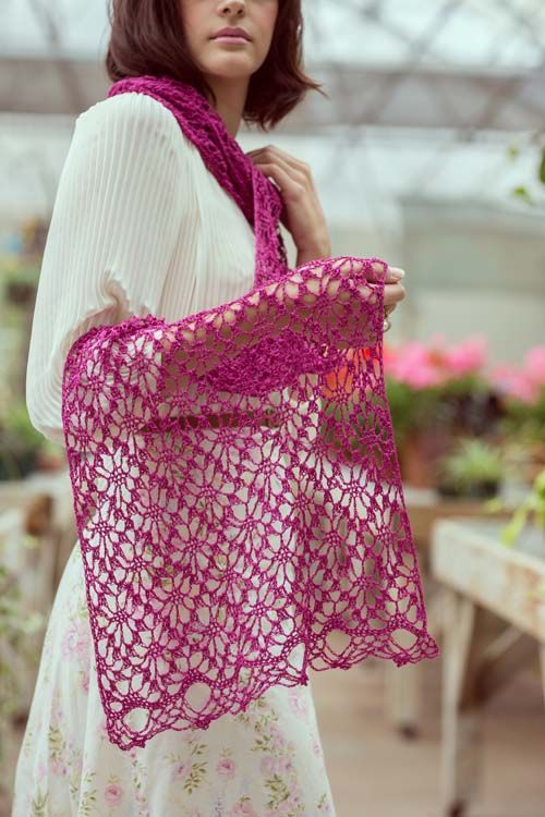 It's a shawl, it's crochet lace, it's a wrap, it's just amazing. I love the Pink Zazzle Shawl. You can very easily adapt the length of this crochet wrap.