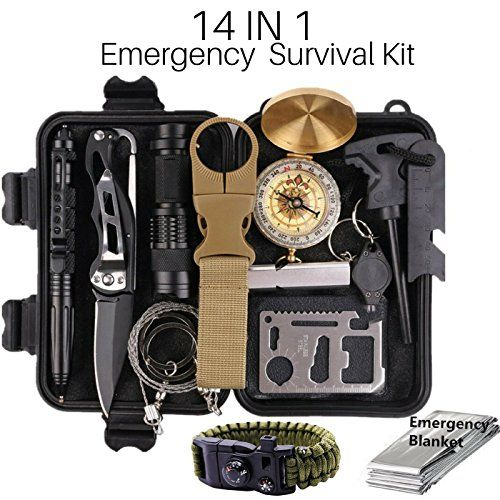 Emergency Survival Kit Camping Hiking Gear Outdoor Tactical Climbing Tools Compact Kits Blanket Compass Hunting Knife Tool Wilderness Multi Bracelet Fire Adventures Pen by Outdoor Adventures. For product & price info go to:  https://all4hiking.com/products/emergency-survival-kit-camping-hiking-gear-outdoor-tactical-climbing-tools-compact-kits-blanket-compass-hunting-knife-tool-wilderness-multi-bracelet-fire-adventures-pen-by-outdoor-adventures/