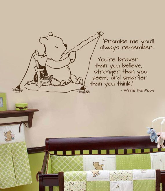 Elegant Classic Pooh Wall Decal Fishing Horizontal By Wildgreenrose.etsy.com Part 26