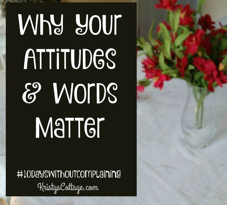 Why Your Attitude and Words Matter... as a pastors wife, you have influence and a position of leadership. What are you doing with those gifts?