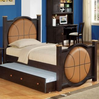 Best Basketball Bedspread Basketball Bed In Espresso All Star 640 x 480