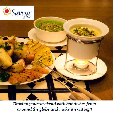 Unwind Your Weekend At Saveur 360 & make it exciting.   #RigveditaHospitality #Restaurant #Ahmedabad  #foodlover #italianfood #foodie #foodquote #FoodaholicsInAhmedabad #FoodaddictsAhmedabad #Whatshot #FoodPorn #whatshot_in #foodbloggeraindia
