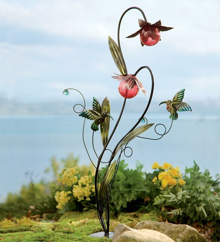 Our Solar Hummingbird Metal Garden Stake Will Brighten Your Days And Nights.
