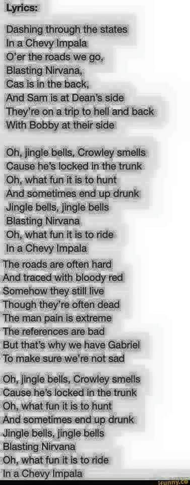 if you said you didn't sing it you're lying