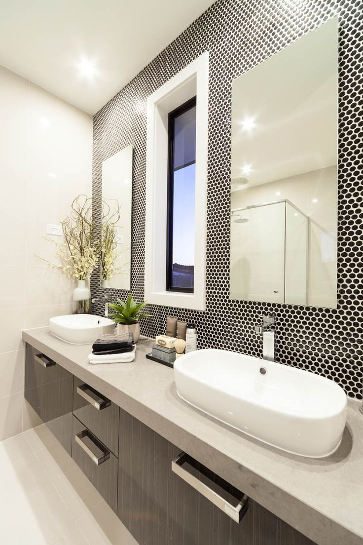 Love the width and penny tiles of this Metricon ensuite - Banksia