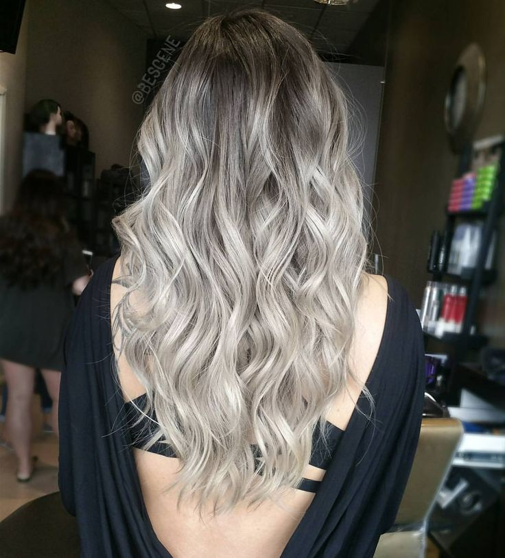 """Linh Phan on Instagram: """"BALAYAGE BACK SHOT  beautiful blends of beige and ash blondes with an ash brown base . To achieve these colors on asian hair is very difficult. Takes multiple sessions. Please be patient with your stylists! This color took around 3 sessions. Her natural hair is a level 2 dark brown. #BESCENE"""""""