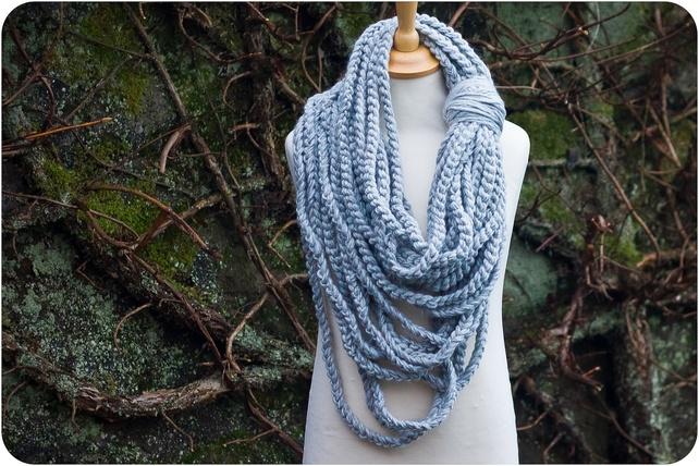 Chunky Crochet Rope Scarf £30.00