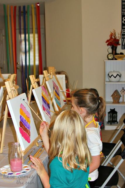 Throw an amazing Art Party! via herecomesthesunblog.net