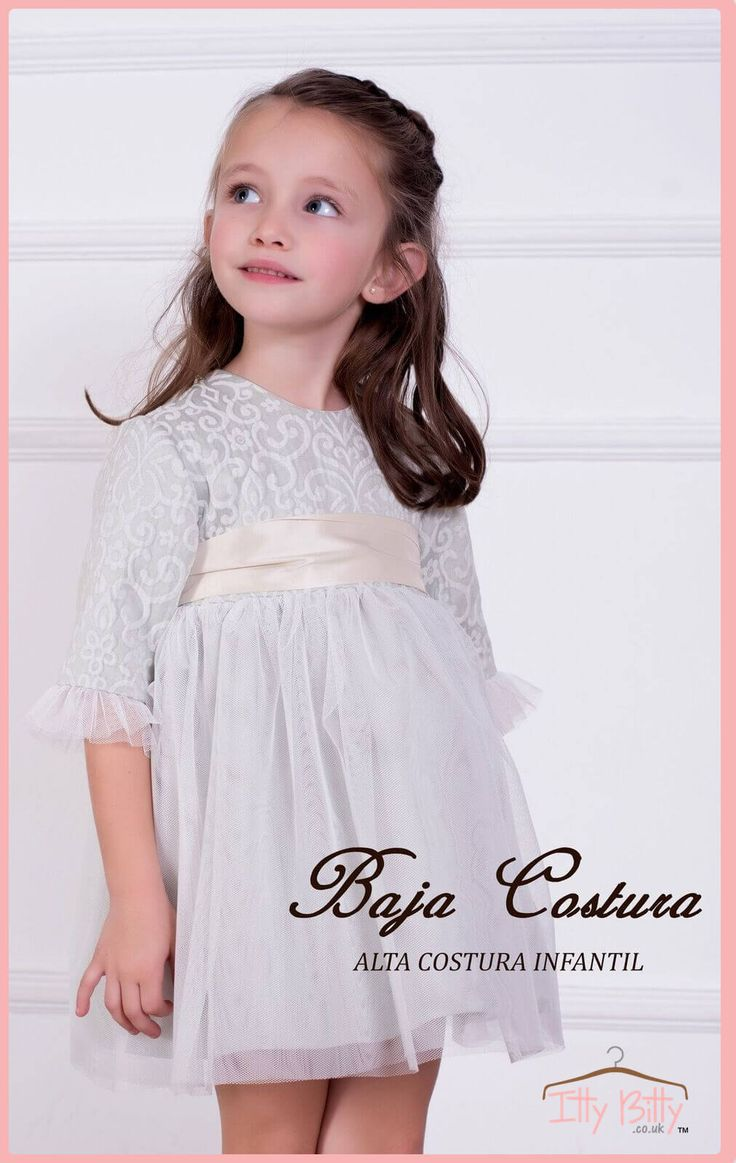 Itty Bitty Premium Spanish Boutique Grey Dress - https://www.ittybitty.co.uk/product/itty-bitty-premium-spanish-boutique-grey-dress/  #autumnwinter #premiumspanishbabyboutique